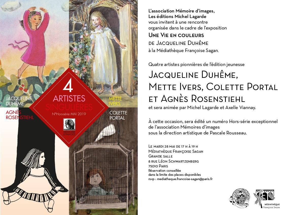 | Le mardi 28 mai de 17 h à 19 h Médiathèque Françoise Sagan  Grande salle 8 rue Léon Schwartzenberg   75010 Paris