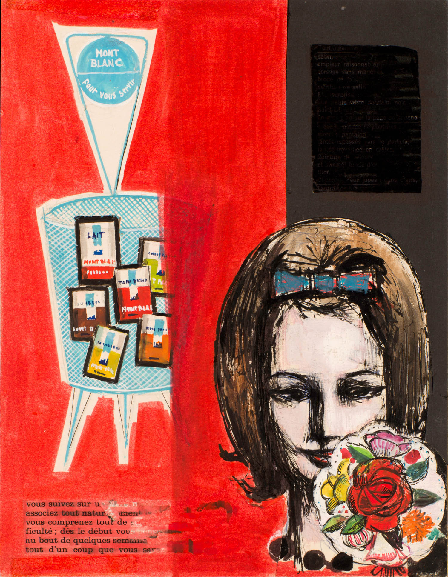 Femme sur fond rouge et noir | Femme sur fond rouge et noir | Robert Gigi