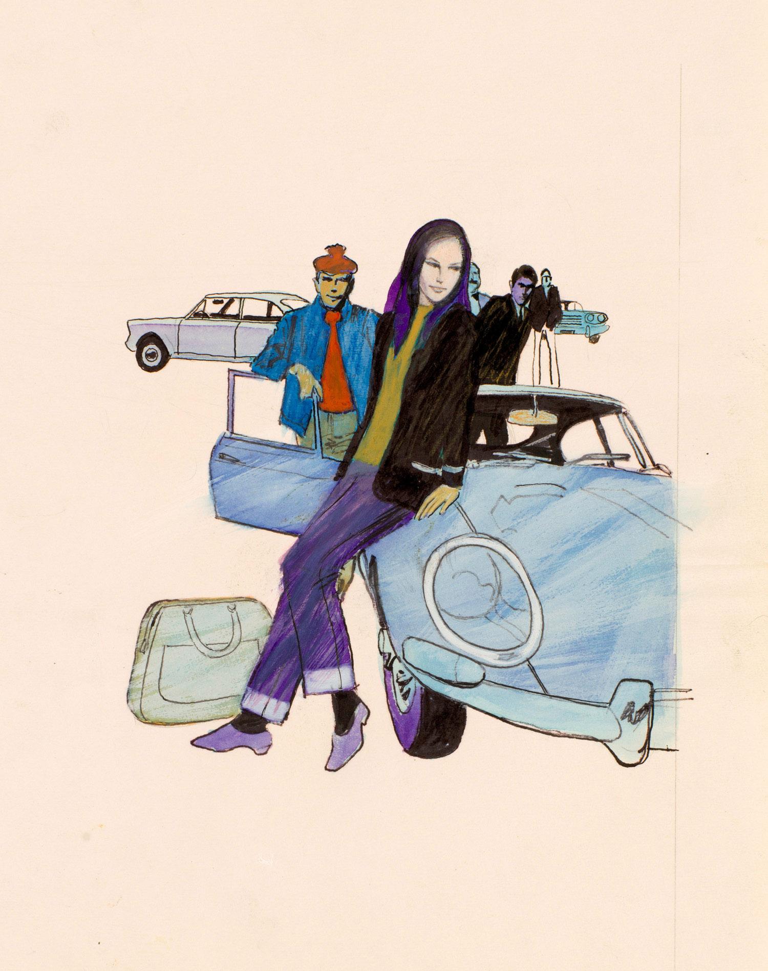 Sur une voiture bleue | Sur une voiture bleue | Robert Gigi