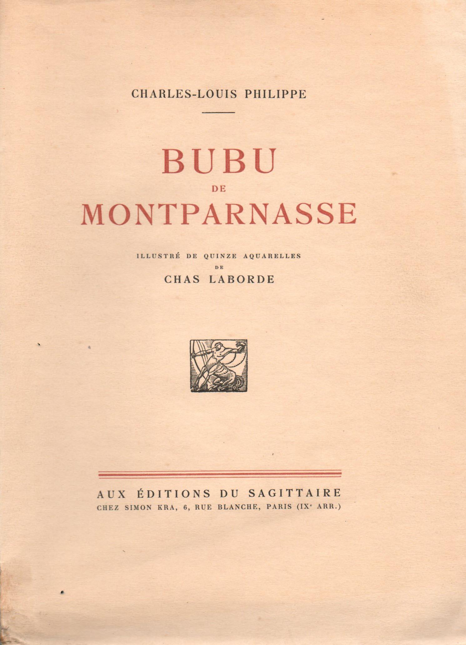 Bubu de Montparnasse | Chas Laborde | Bubu de Montparnasse