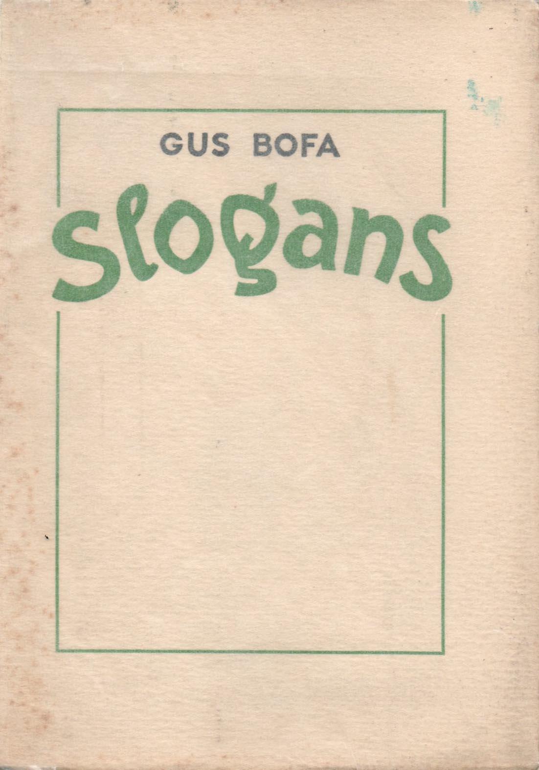 Slogans | Gus Bofa | Slogans