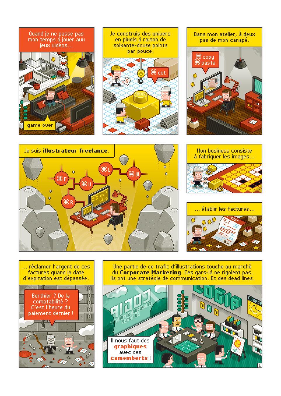 P comme Pixelsier (planche 1) | Laurent Bazart | Pixeliser (planche 1)