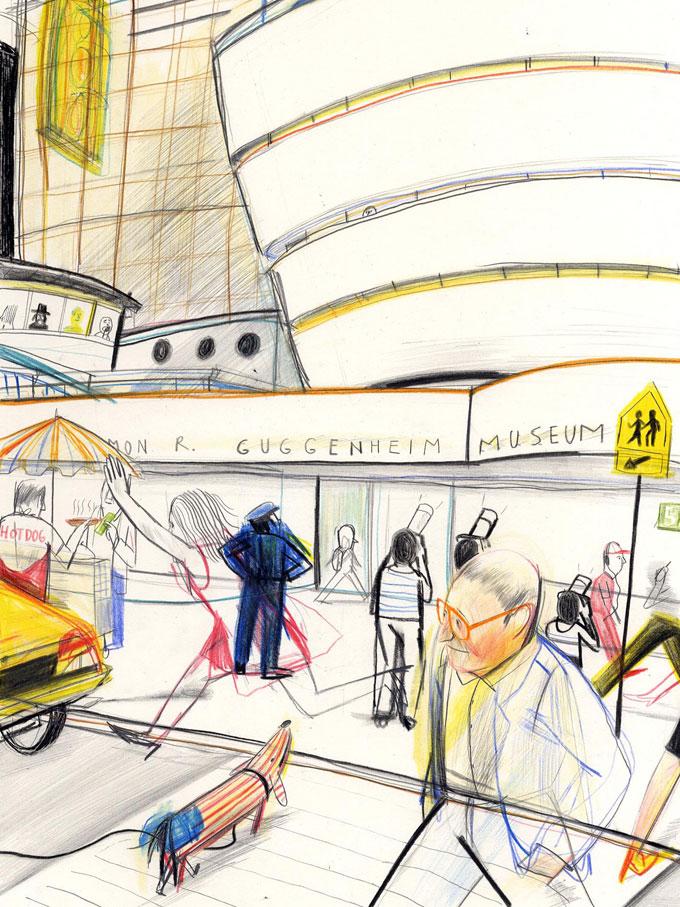l'entrée du Guggenheim | l'entrée du Guggenheim |