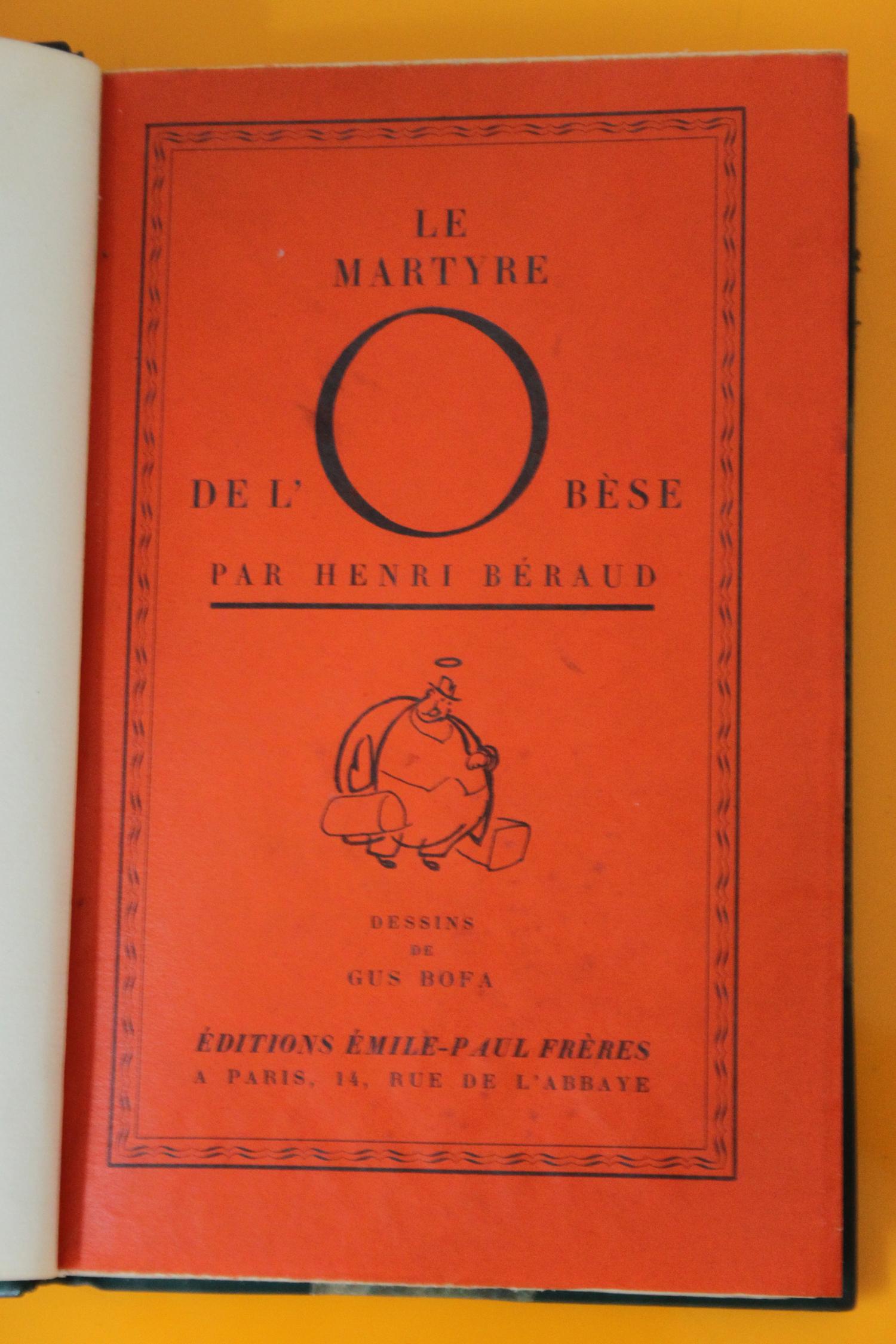 Page de titre | Le Martyre de l'Obèse | Livre