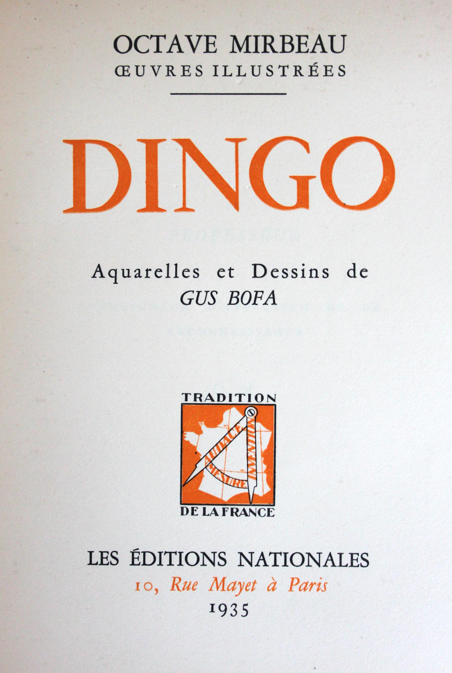 Page de titre | Dingo | Livre
