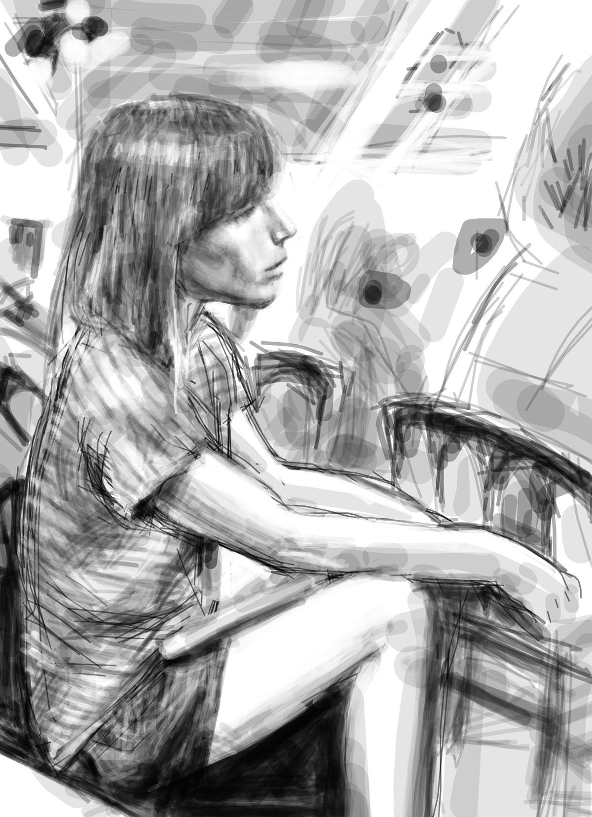 Laure | Laure | portrait réalisé sur Iphone