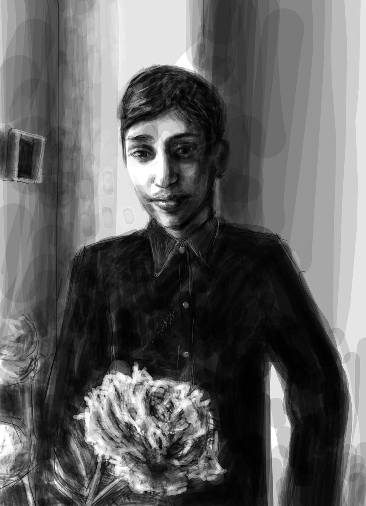 Naveed | Naveed | portrait réalisé sur Iphone
