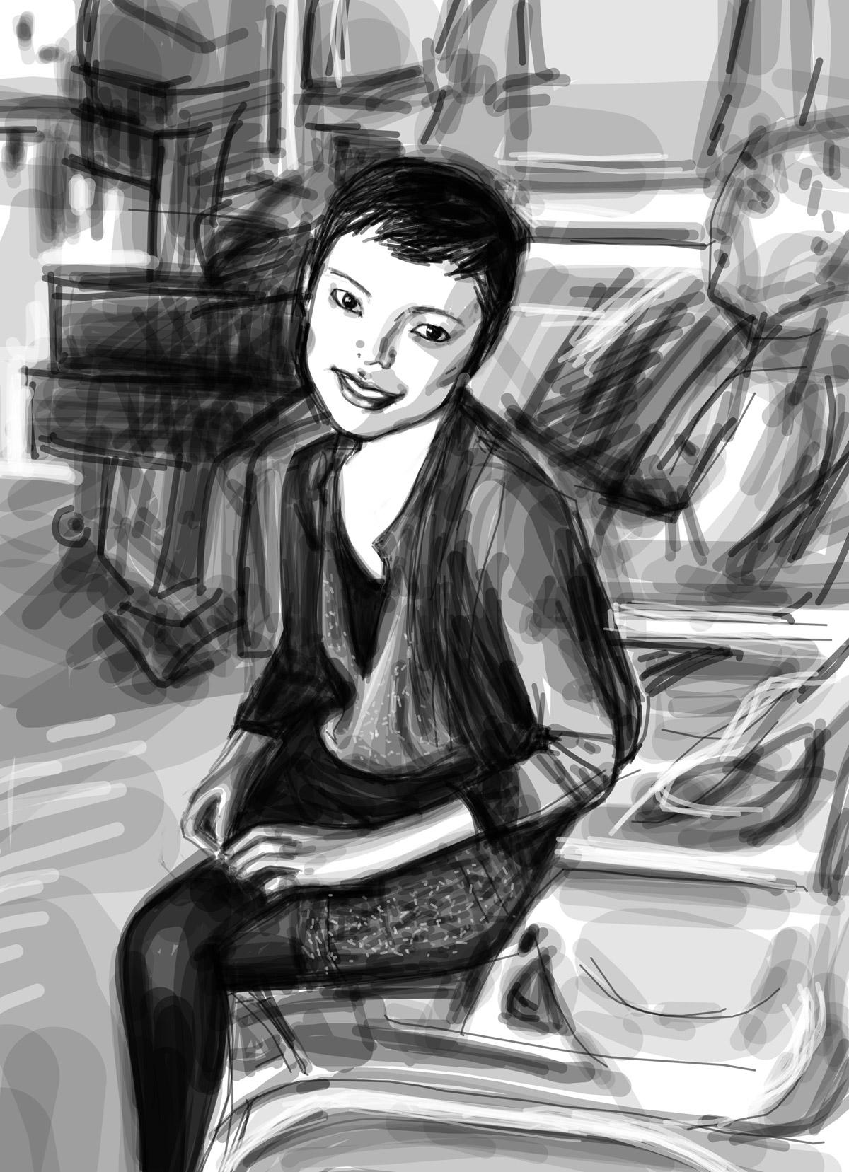 Saori | Saori | portrait réalisé sur Iphone