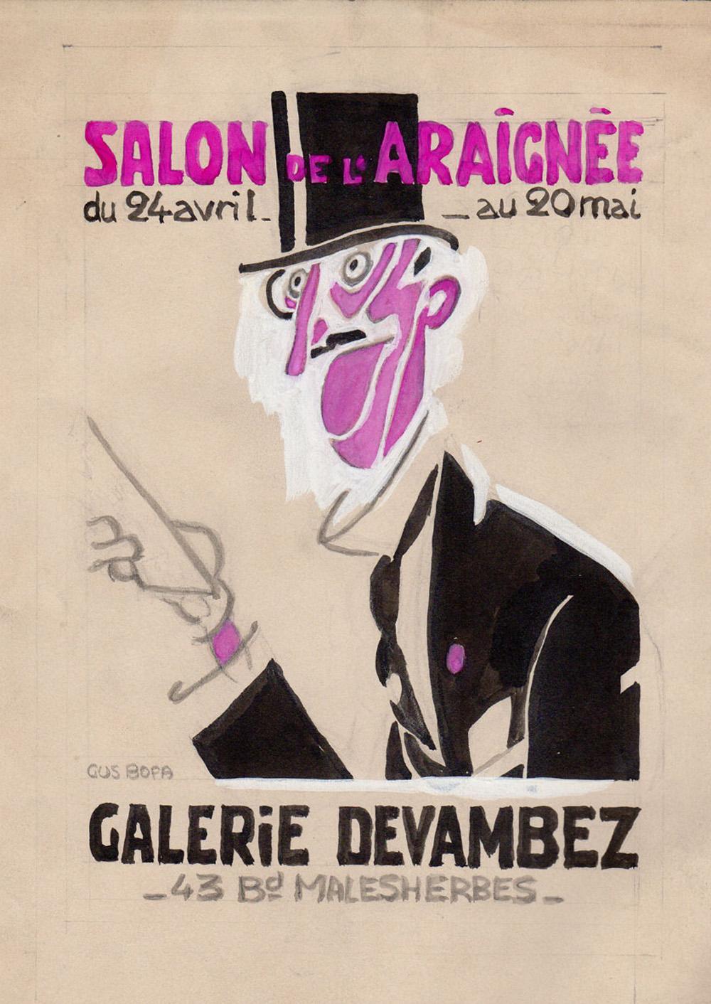 Galerie Devambez | Gus Bofa | Affiche du Salon de l'Araignée