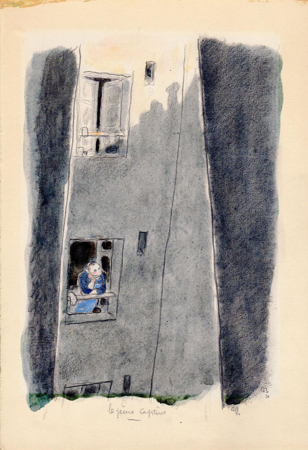 La jeune captive | Gus Bofa | La jeune captive