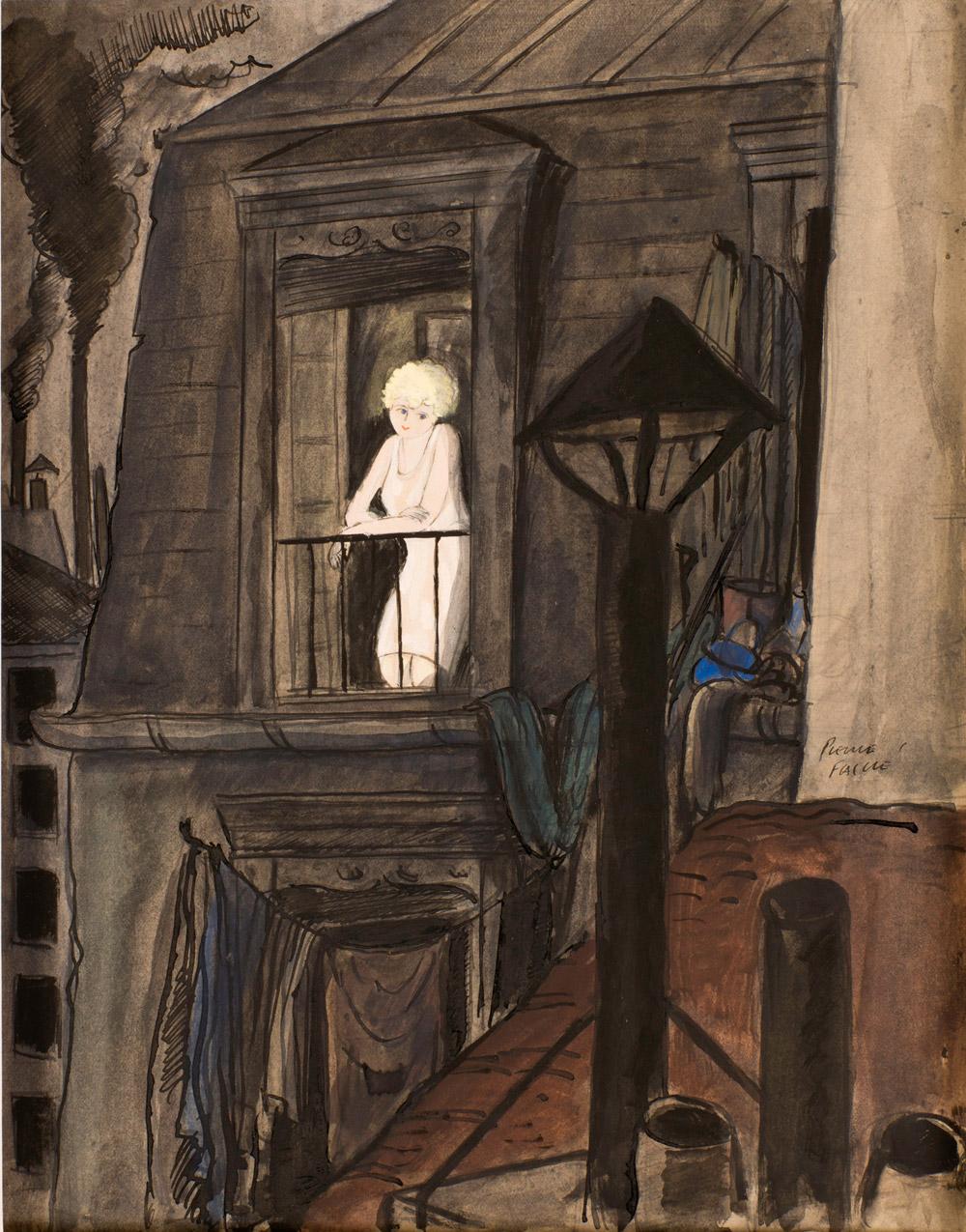 Jeune fille à la fenêtre | Pierre Falké | Jeune fille à la fenêtre