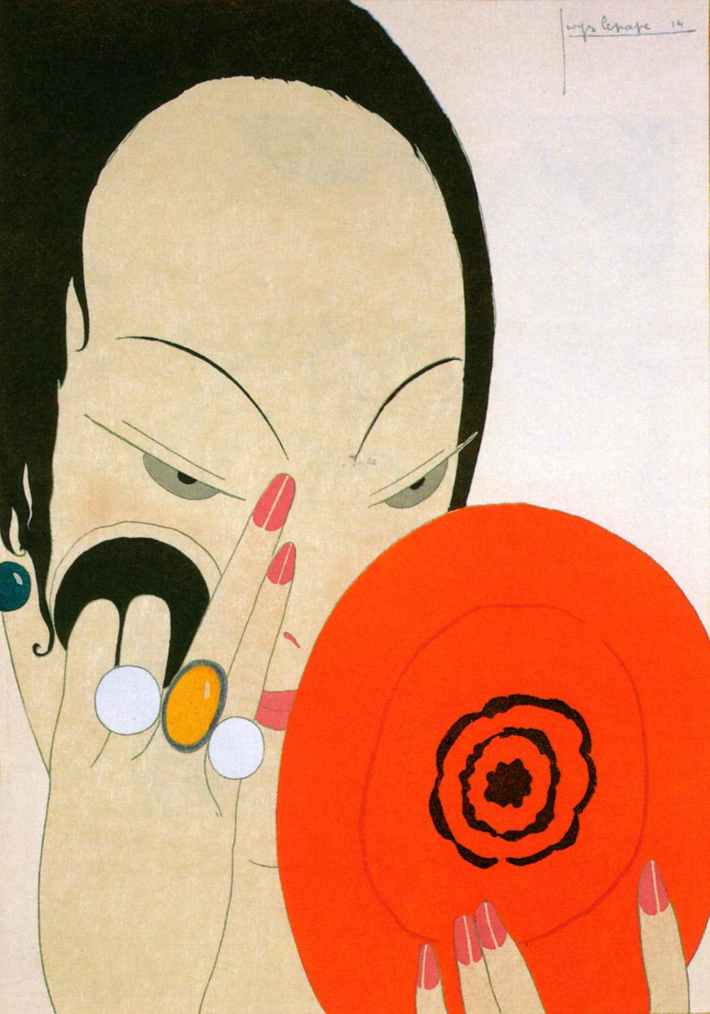 Femme se maquillant | Georges Lepape | Le miroir rouge
