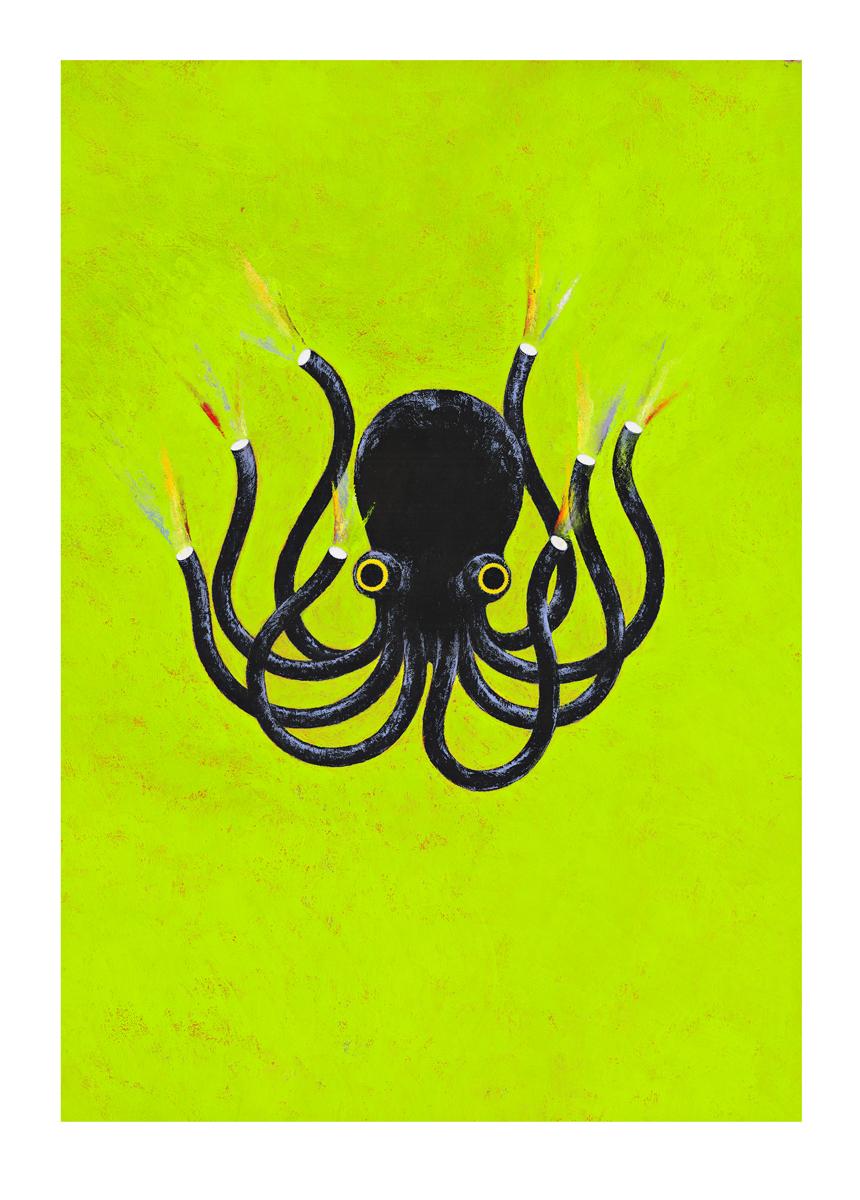 Image réalisée pour l'affiche du festival international Toulouse les orgues 2012 | La pieuvre |