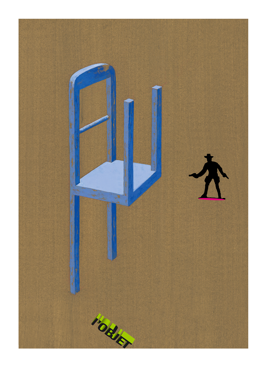 Image réalisée pour l'affiche de la Fondation d'art contemporain - Espace Ecureuil | L'objet |