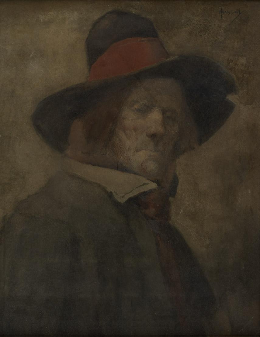 Portrait d'homme au chapeau | John Hassal |