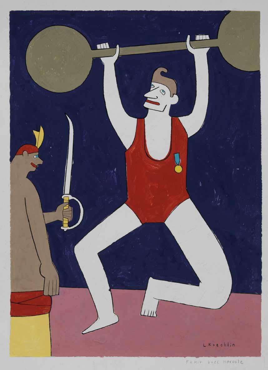 Lionel Koechlin | Fakir avec Hercule |