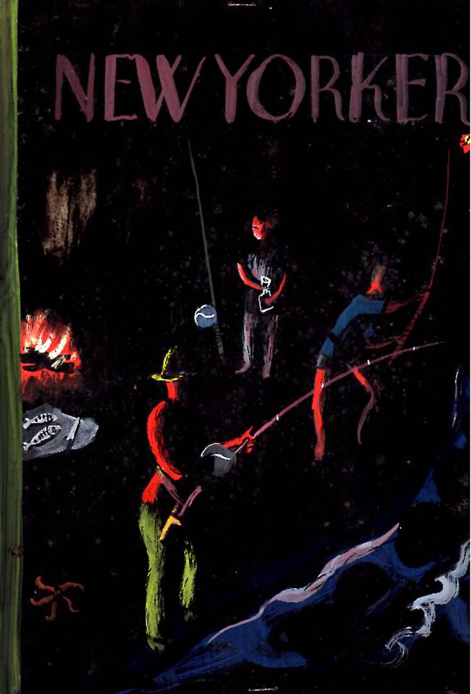 The New Yorker | Roger Duvoisin | Pêche à la ligne