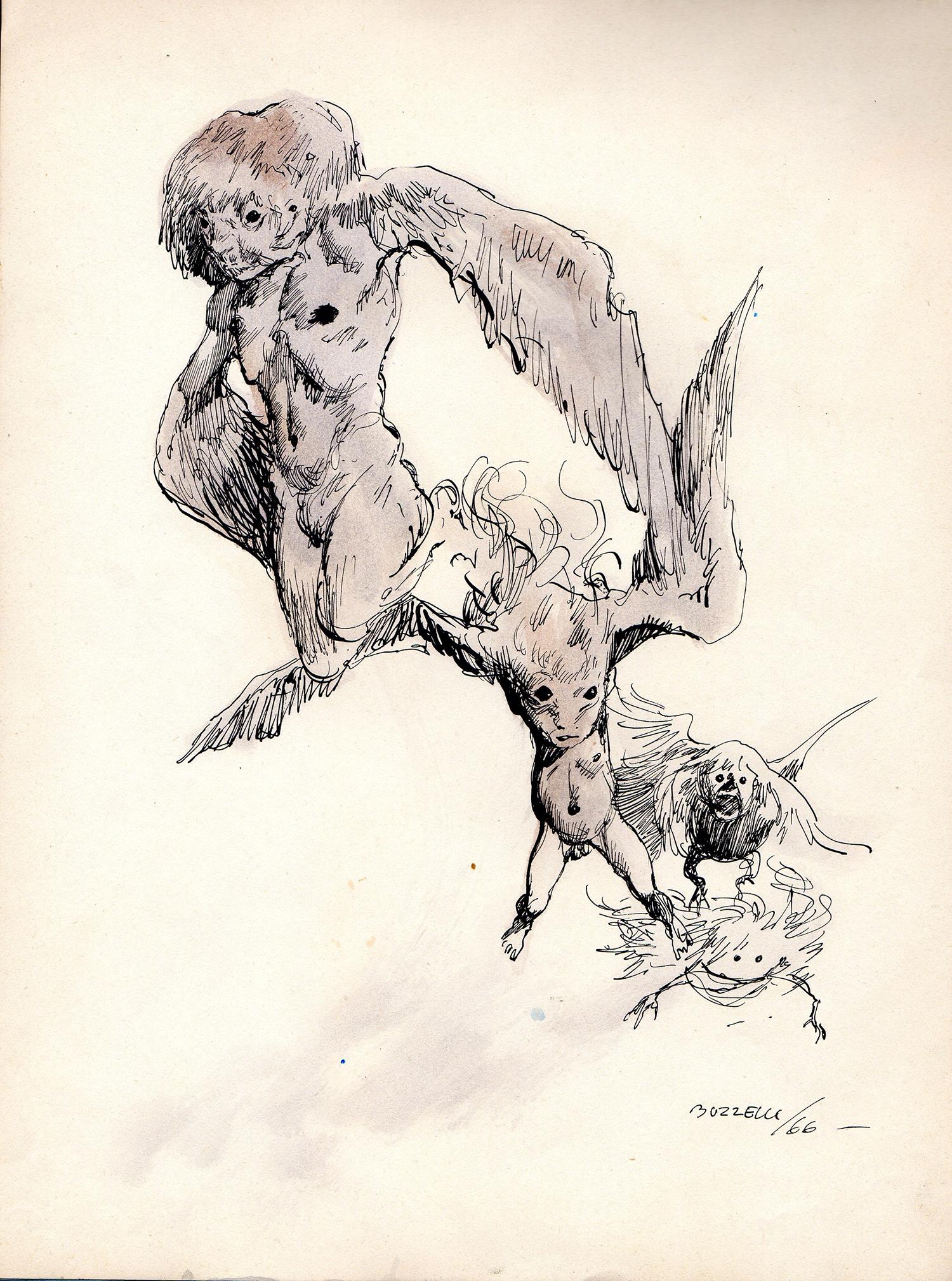 Guido Buzzeli | Trois figures | Guido Buzzelli