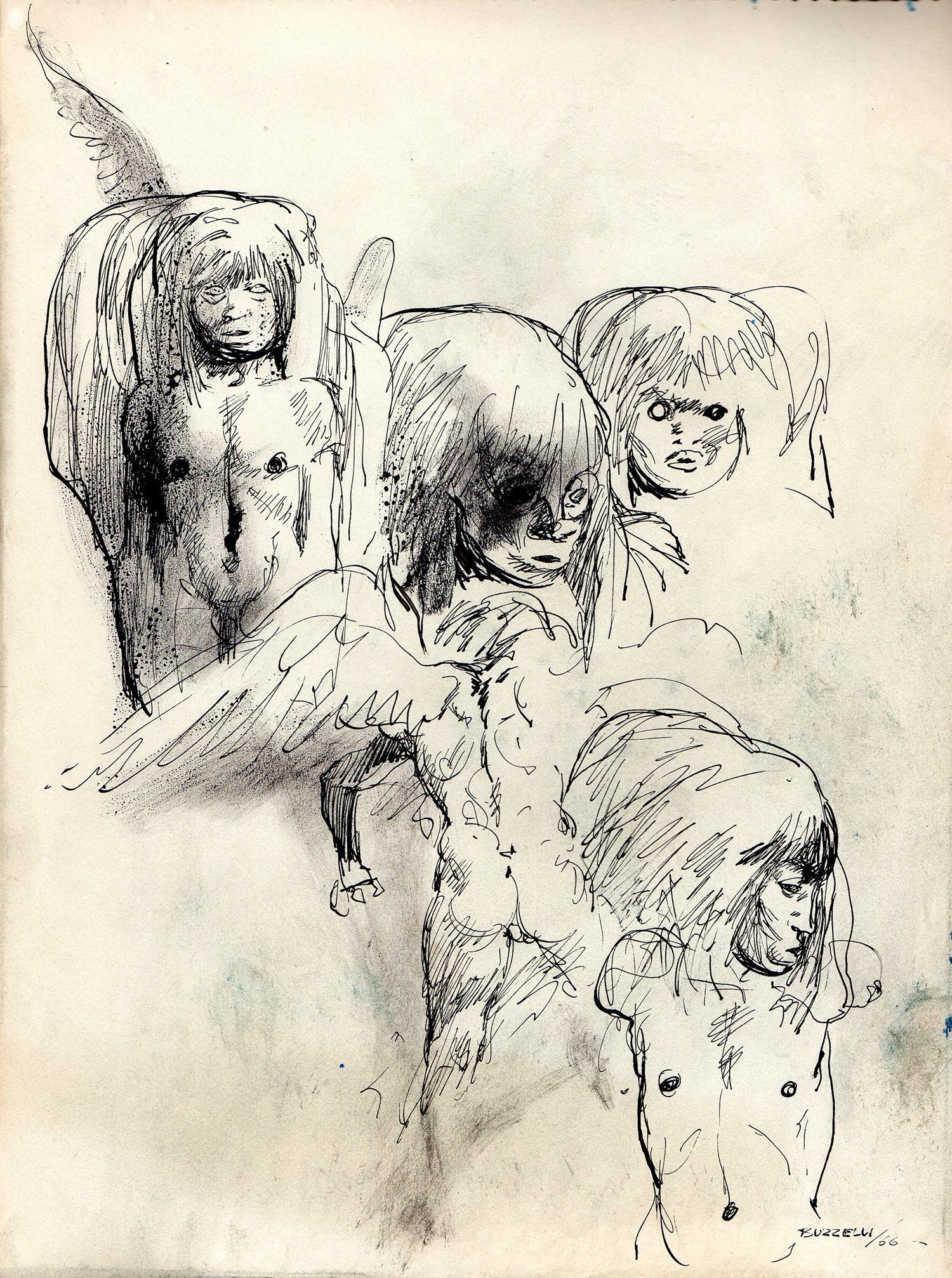 Guido Buzzelli | Quatre figures | Guido Buzzelli