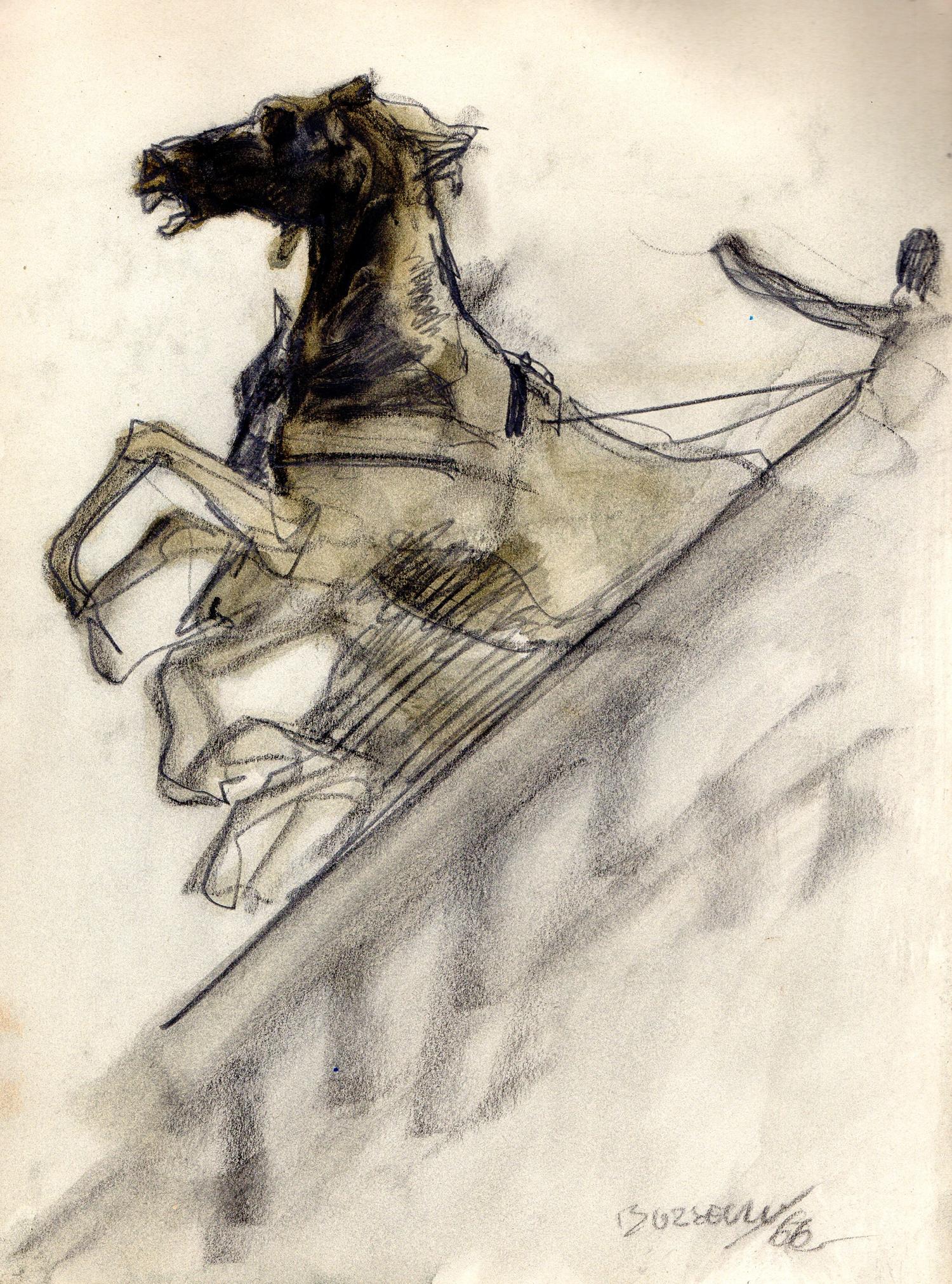 Guido Buzzelli | Cheval cabré | Guido Buzzelli