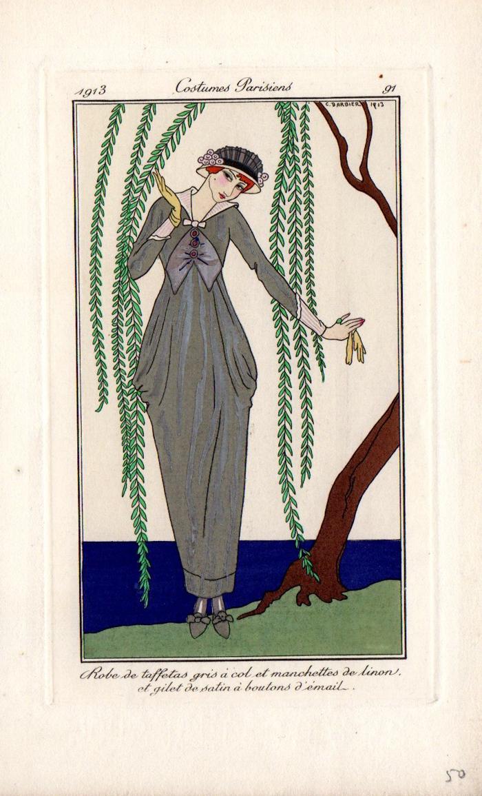 Costumes Parisiens n°91 G.Barbier | Costumes Parisiens planche n°91 | Costumes Parisiens