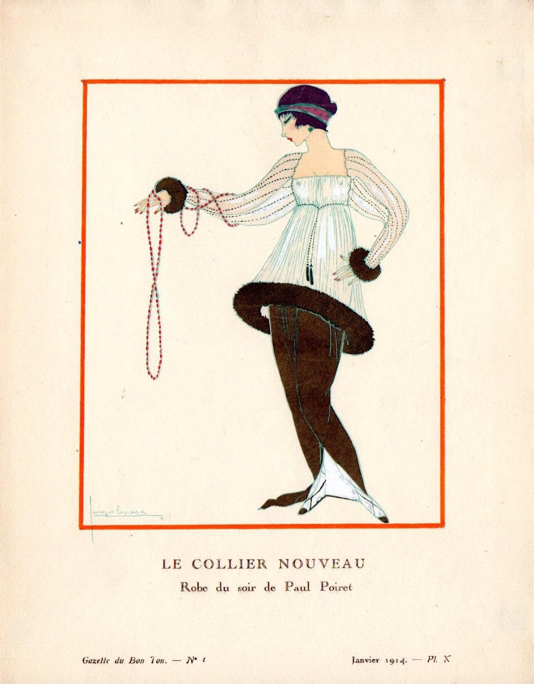 Gazette du bon ton | Le Collier nouveau | Gazette du Bon Ton n°1