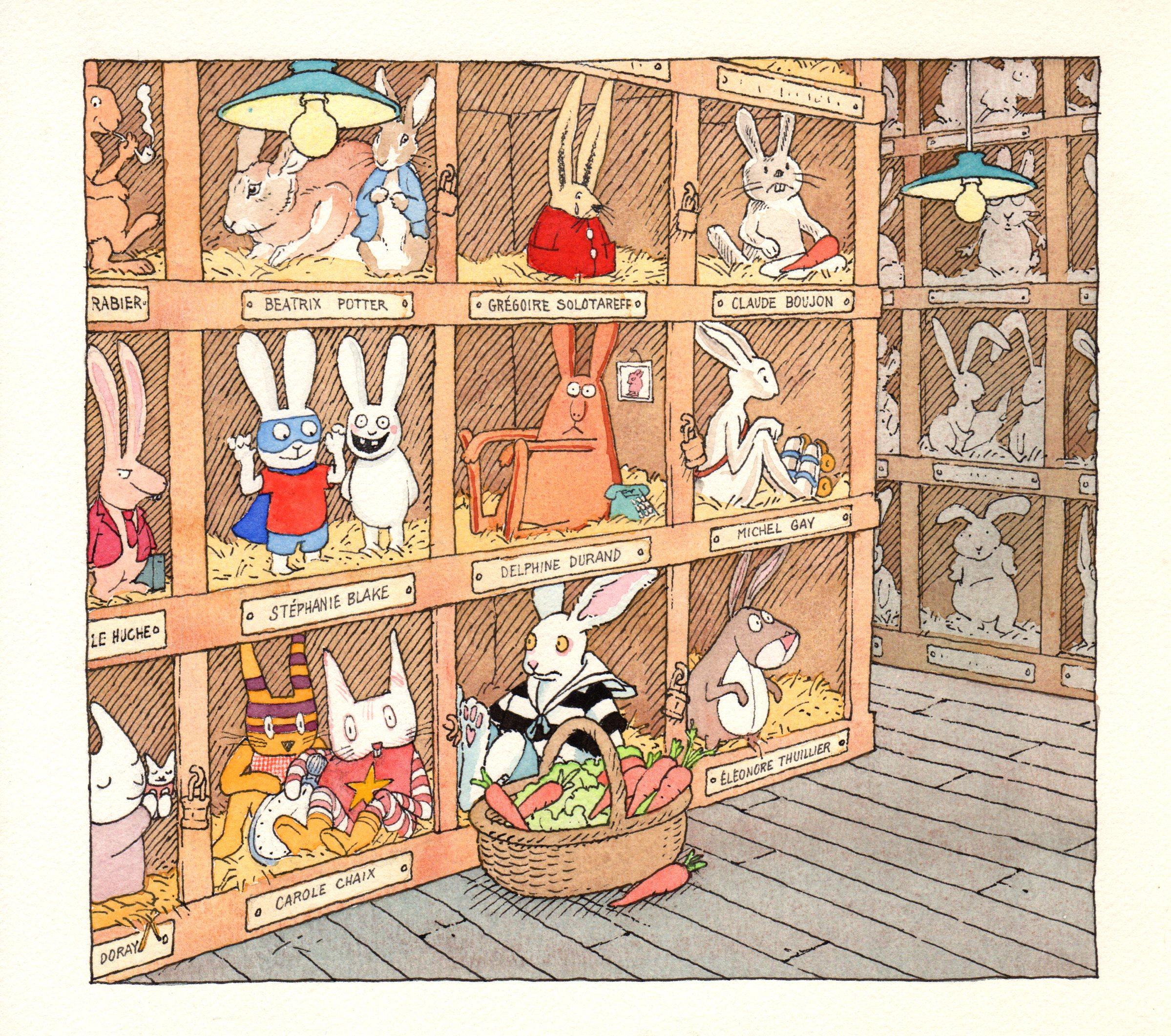 L'élevage de lapins | L'élevage de lapins - Les Coulisses du Livre Jeunesse | Gilles Bachelet