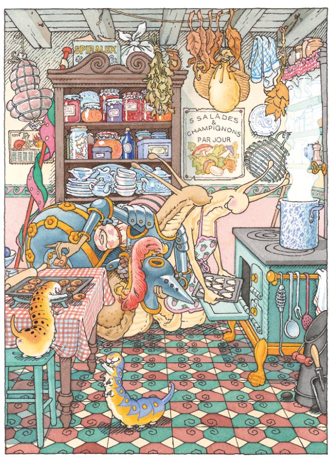 La cuisine | La cuisine - Le Chevalier de ventre à Terre | Gilles Bachelet