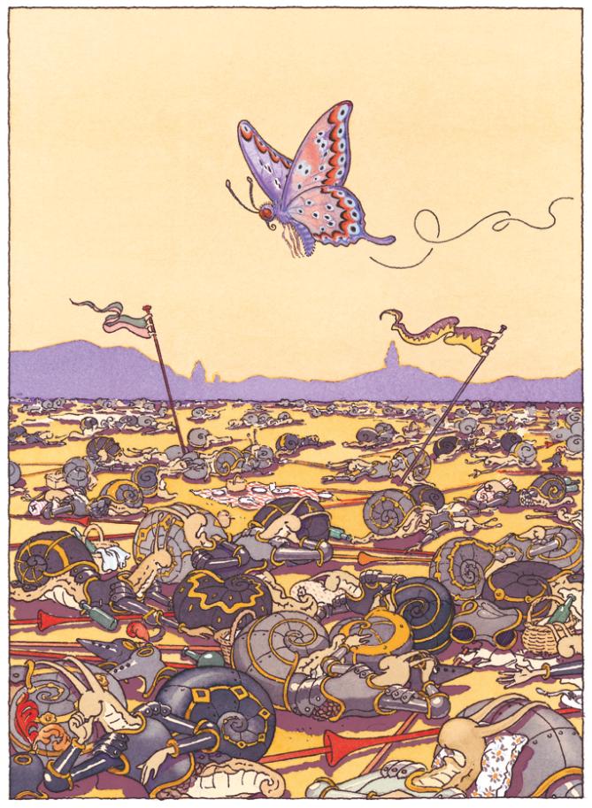 Le papillon | Le papillon - Le Chevalier de ventre à Terre | Gilles Bachelet