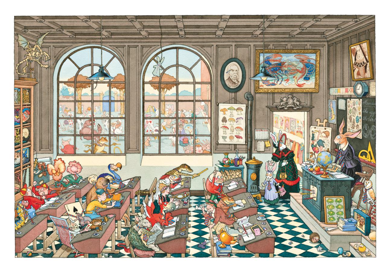 La salle de classe | La salle de classe - Madame le Lapin Blanc | Gilles Bachelet