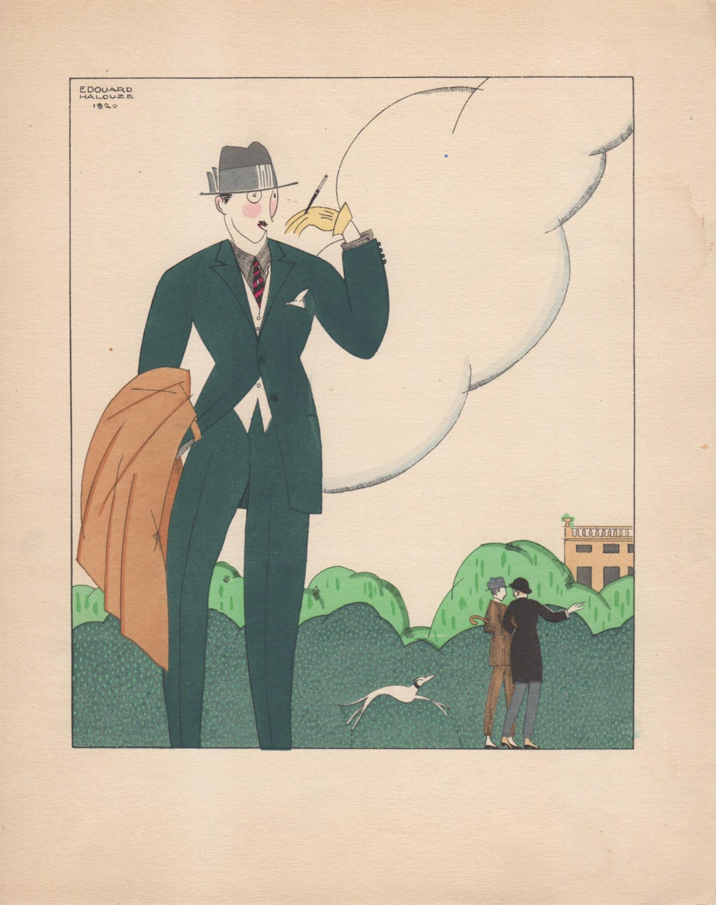 Le fumeur | Élégant au porte cigarette | Edouard Halouze