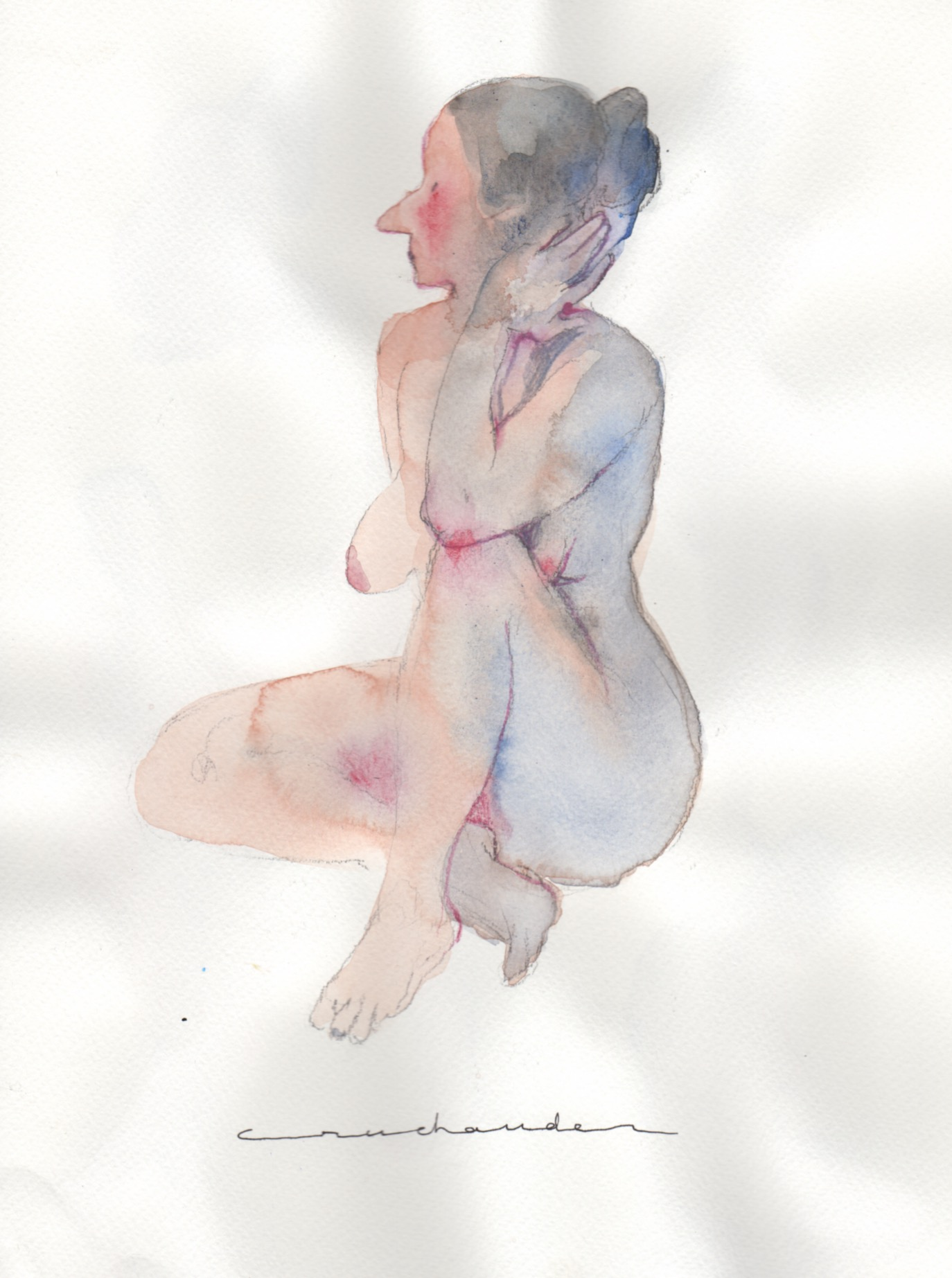 Chloé Cruchaudet | GALERIE TREIZE-DIX / NU AU PROFIL | Chloé Cruchaudet
