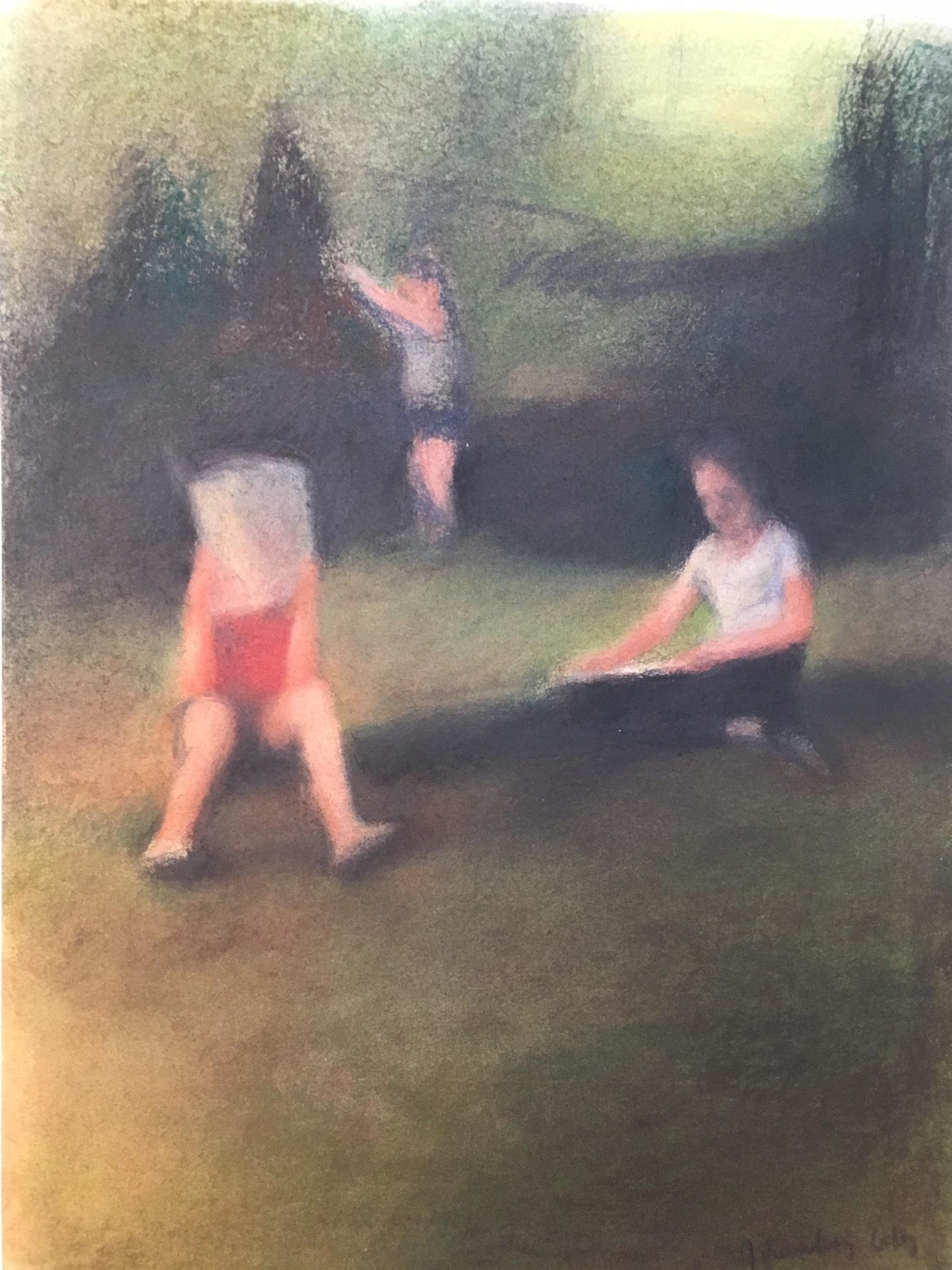 Trois enfants dans un champ, la tortue est dans l'herbe | GALERIE TREIZE-DIX I AUTRE JE | Anne Gorouben, Trois enfants dans un champ, la tortue est dans l'herbe