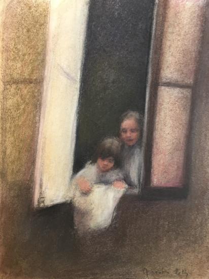 Montparnasse, les deux sœurs ont une «troisème grand-mère», la voisine  du dessuous | GALERIE TREIZE-DIX I AUTRE JE | Anne Gorouben, Montparnasse, les deux sœurs ont une «troisème grand-mère», la voisine  du dessuous
