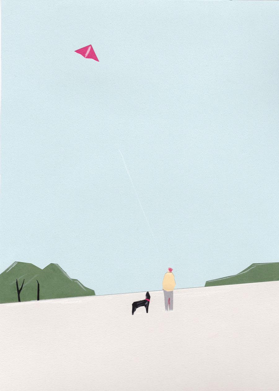 Kite-Fying | GALERIE TREIZE-DIX I AUTRE JE | Taku Bannai, Kite-Flying