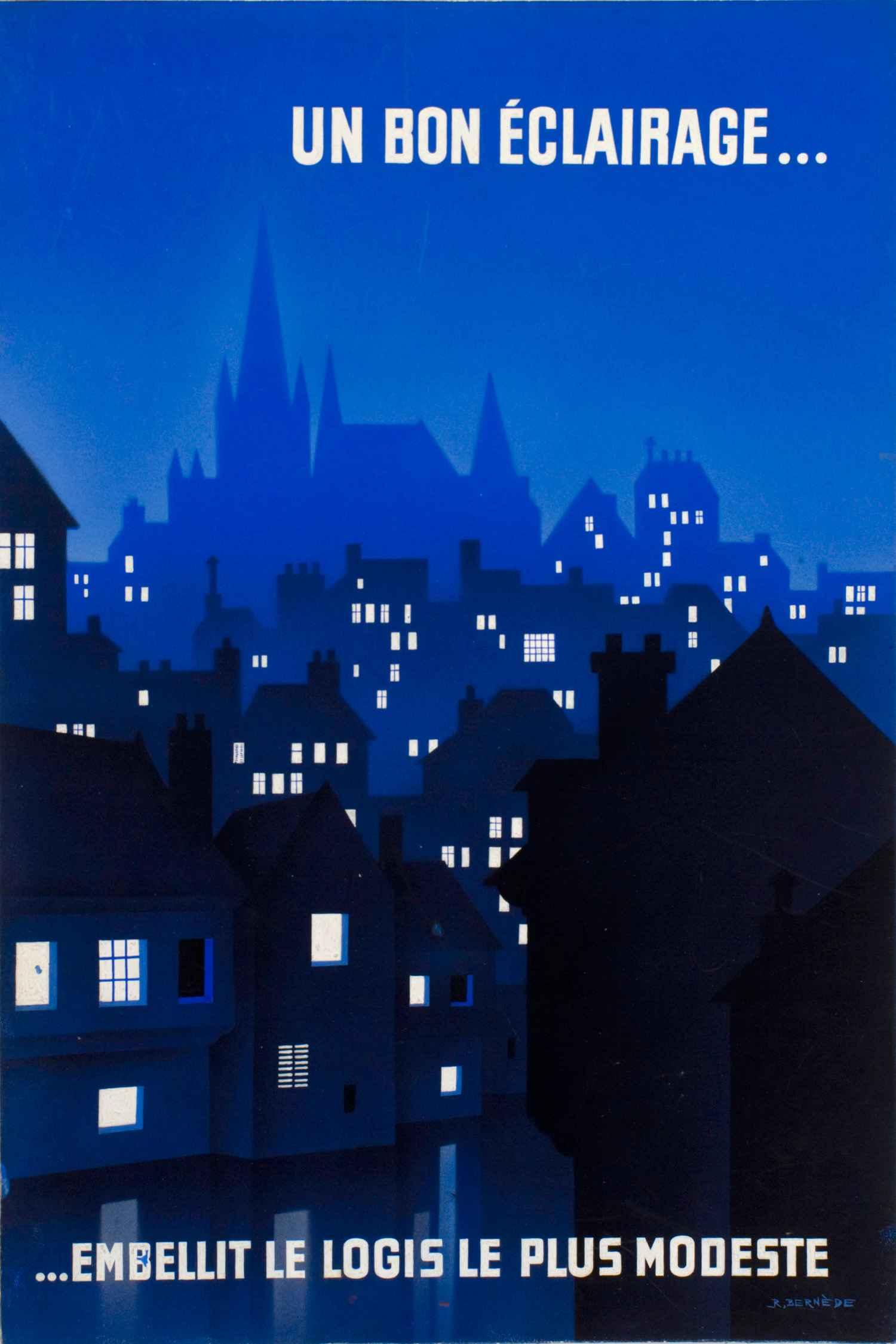 Un bel éclairage... | Gouaches Publicitaires | R. Bernède
