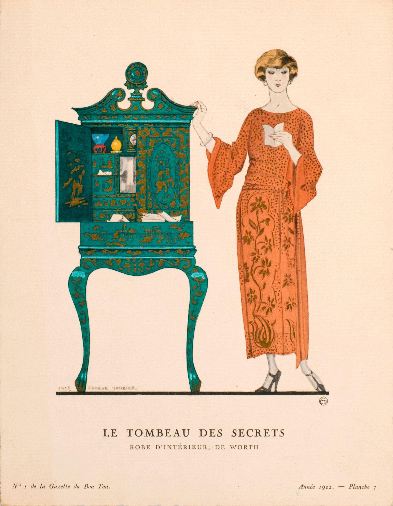 Le tombeau des secrets | Georges Barbier | Gazette du Bon Ton