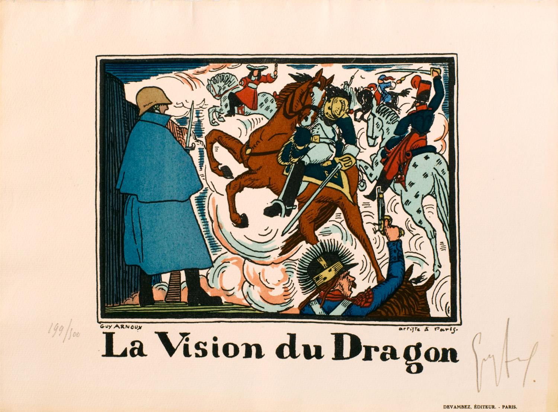 La vision du dragon | Guy Arnoux | Quatre images allégoriques