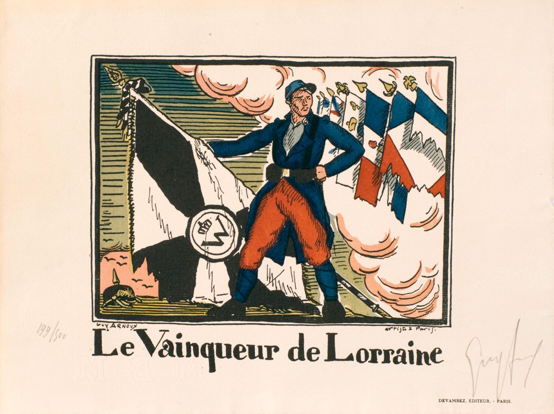 Le Vainqueur de Lorraine | Guy Arnoux | Quatre images allégoriques
