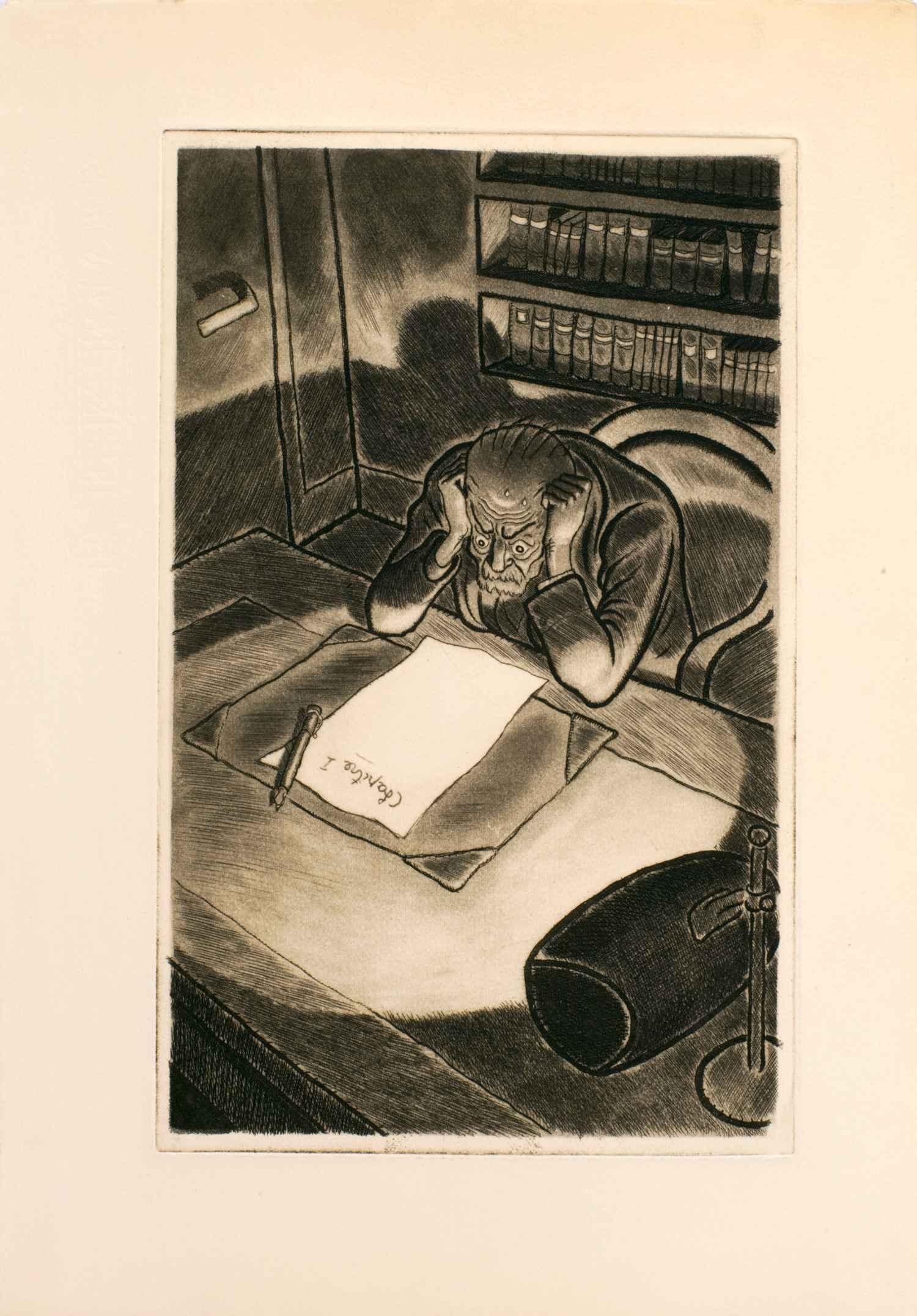 Silences | Silences | Jean Bruller - 8 estampes dessinées gravées imprimées et coloriées à la main