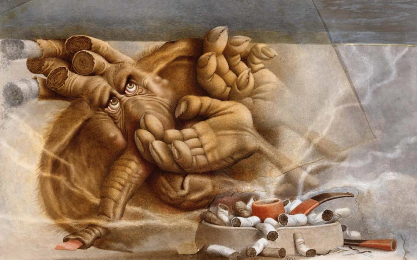 Jumbo de nicotine | Michel Guiré-Vaka / Sculpteur d'images | Jumbo de nicotine