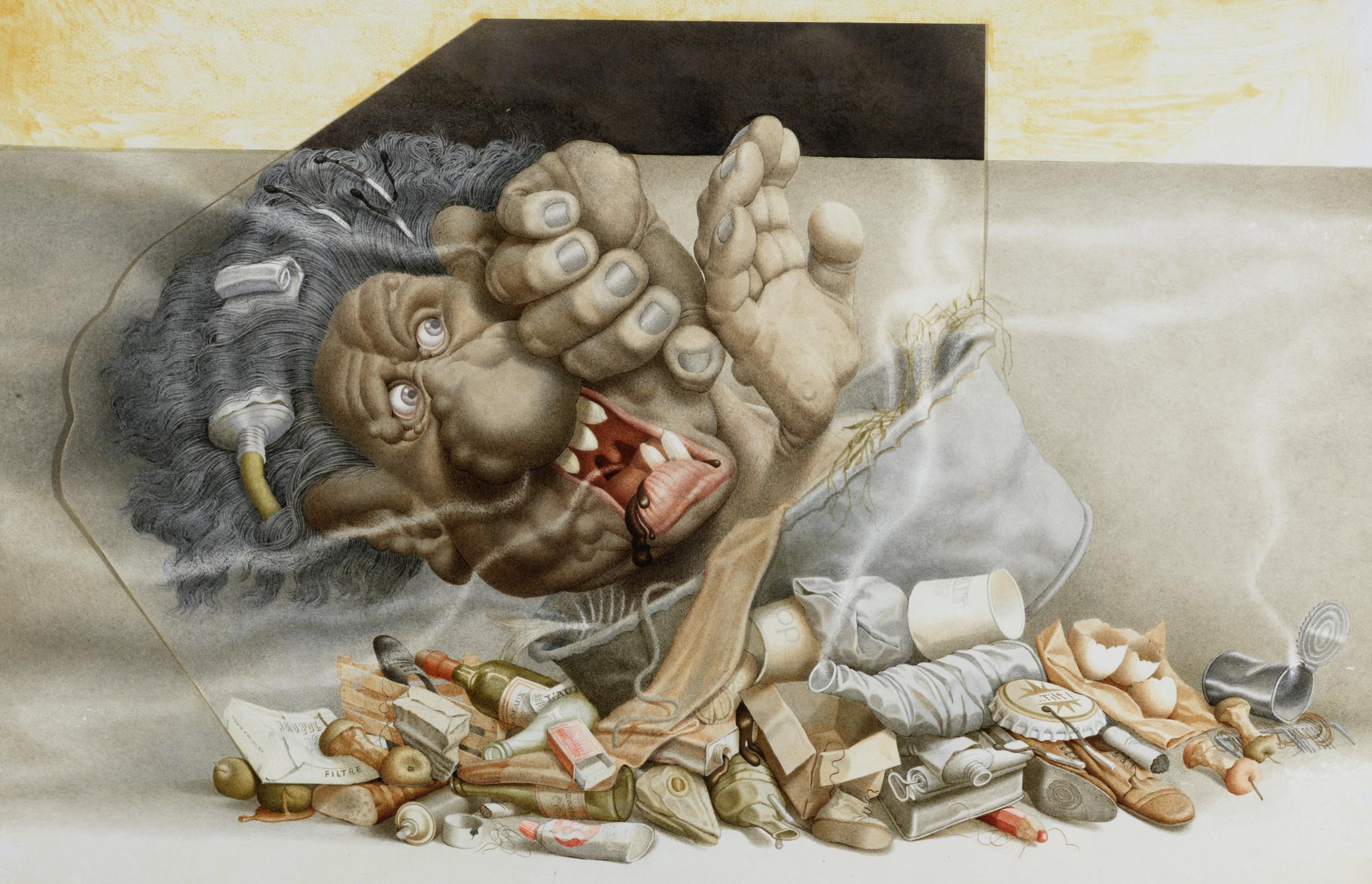 Jumbo de friteuse-monstre-odeur | Michel Guiré-Vaka / Sculpteur d'images | Jumbo de friteuse-monstre-odeur
