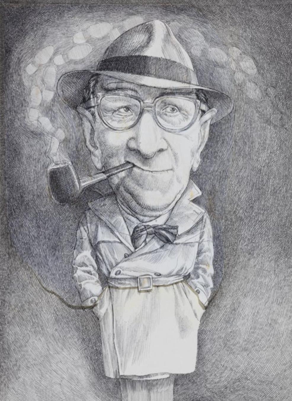Georges Simenon pour le magazine Lire | Michel Guiré-Vaka / Sculpteur d'images | Georges Simenon pour le magazine Lire
