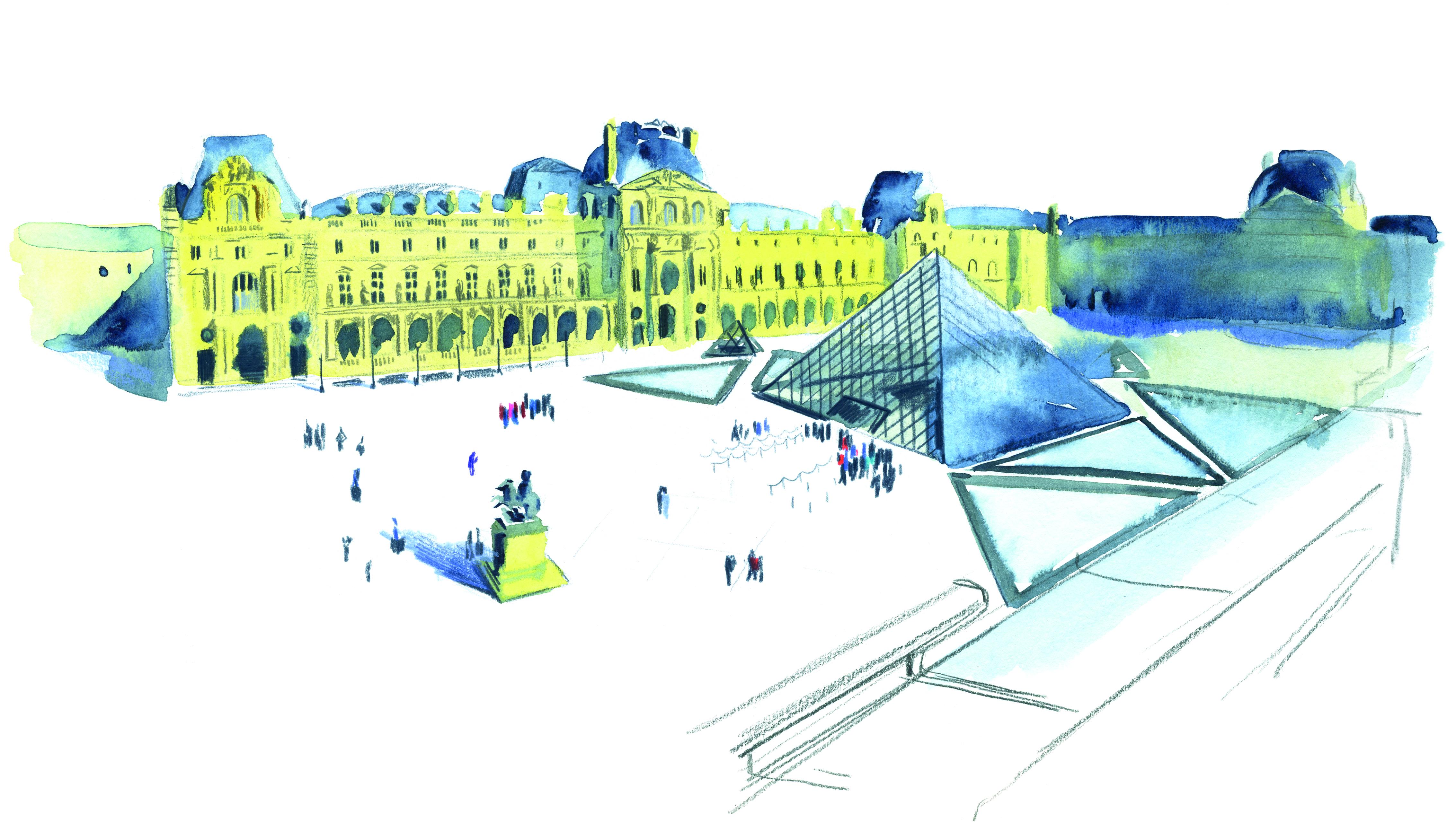 Les toits du Louvre, vue de l'aile Denon | GALERIE TREIZE-DIX I LUCILE PIKETTY | Les toits du Louvre, vue de l'aile Denon