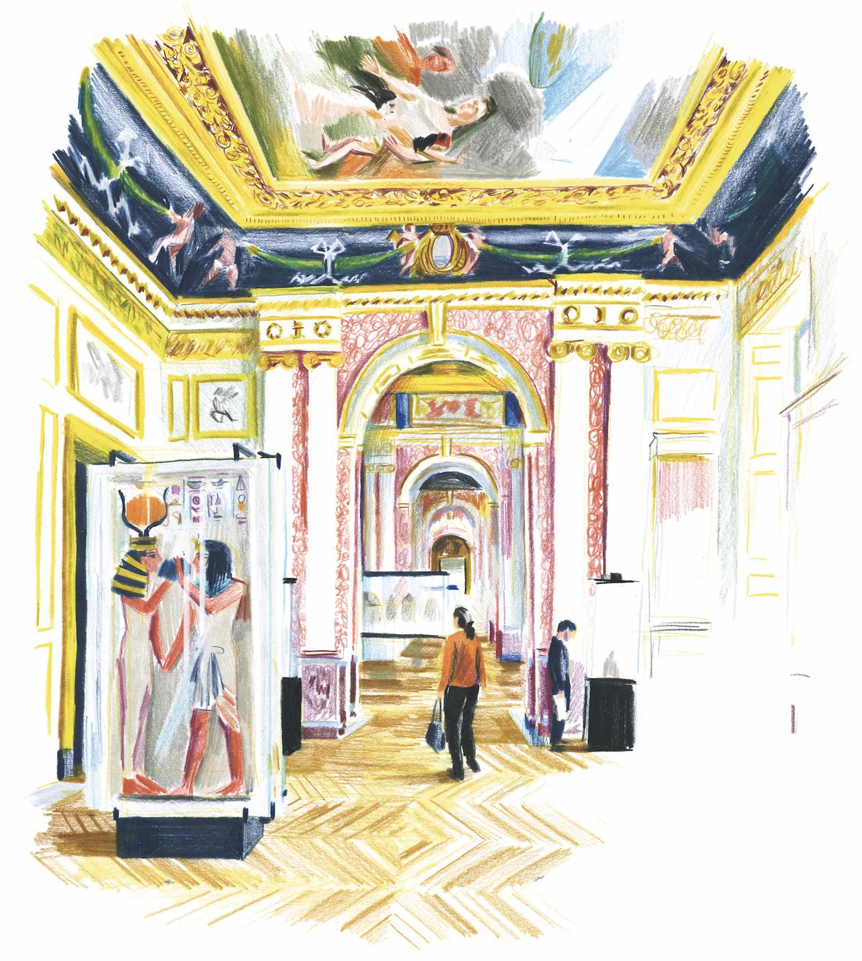 La déesse Hathor accueille Séthi Ier | GALERIE TREIZE-DIX I LUCILE PIKETTY | La déesse Hathor accueille Séthi Ier