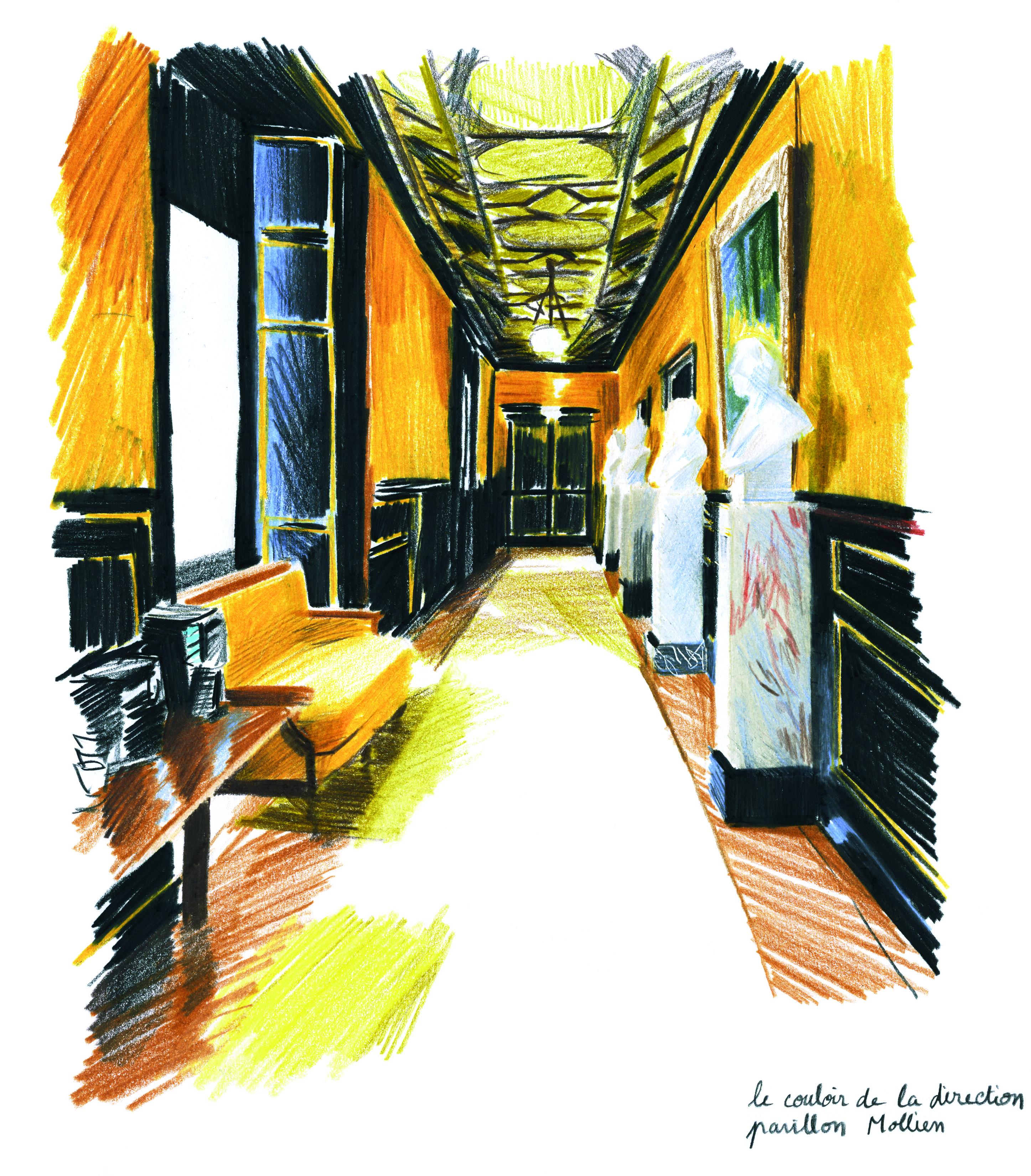 Le couloir de la direction, pavillon Mollien | GALERIE TREIZE-DIX I LUCILE PIKETTY | Le couloir de la direction, pavillon Mollien