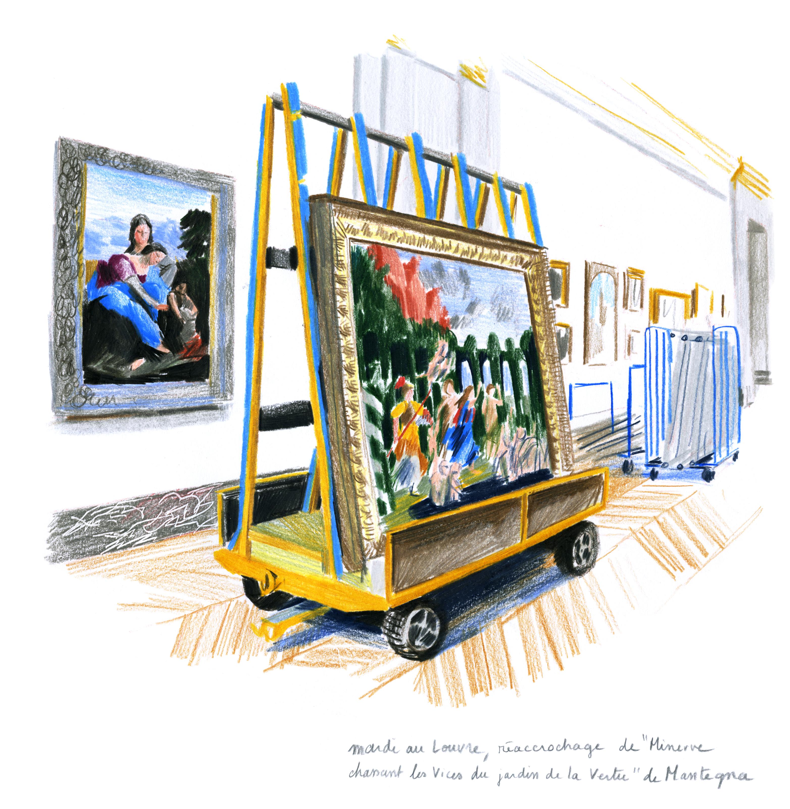 Réaccrochage d'un Mantegna dans la grande Galerie | GALERIE TREIZE-DIX I LUCILE PIKETTY | Réaccrochage d'un Mantegna dans la grande Galerie