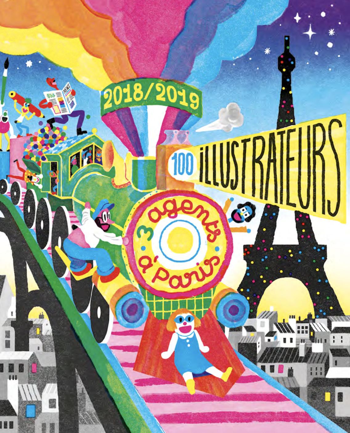 Catalogue | Catalogue 2018-2019 | 3 agents à Paris, 100 illustrateurs