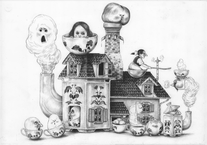 La maison en thé / couverture | La maison en thé / couverture | Nicolas Zouliamis