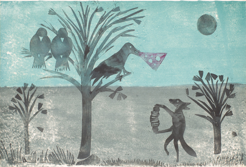 Le corbeau et le renard | Le corbeau et le renard | Atelier Ange Boaretto